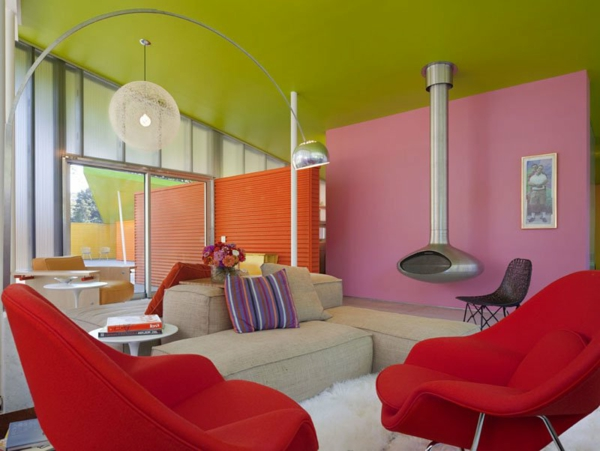 Wandfarbe-Grüntone-und-Rosa