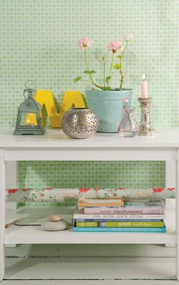Wandgestaltung-Grün-helle-Nuance