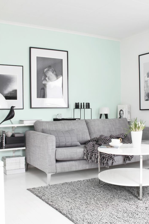 Wandgestaltung-in-grüner-Farbe-Pastellnuance