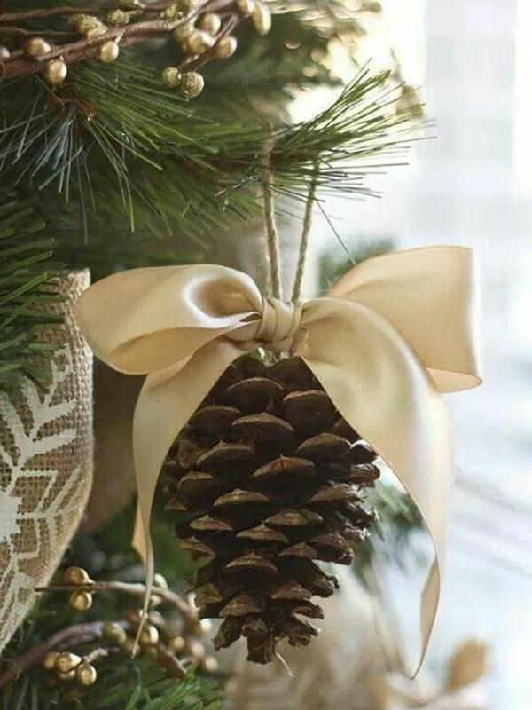 Weihnachtsbaum Dekorationen Selber Machen Zapfen Wunderschöne Ideen ...