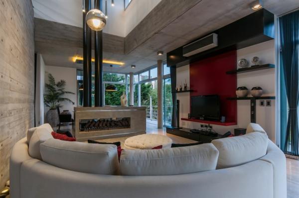 Wunderschöne Vorschläge für ein halbrundes Sofa! - Archzine.net