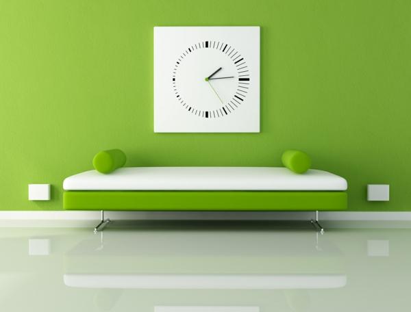 Wohnzimmer-Design-Wand-.in-Grüntönen