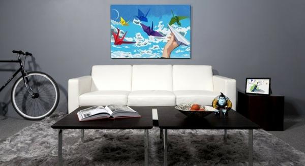 Wohnzimmer-Inspiration-Bild-auf-Leinwand-