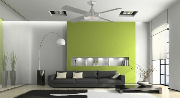 Wohnzimmer Ideen Wandgestaltung Grün | rheumri.com