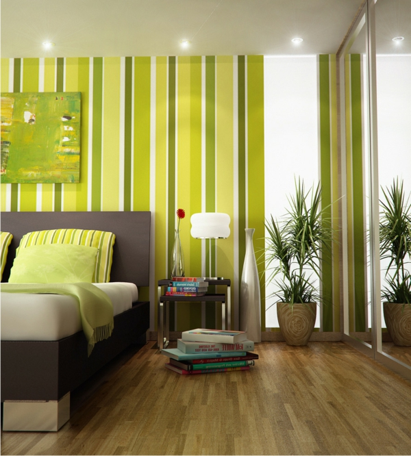 Zimmer-Design--Wandfarbe-Grüntone