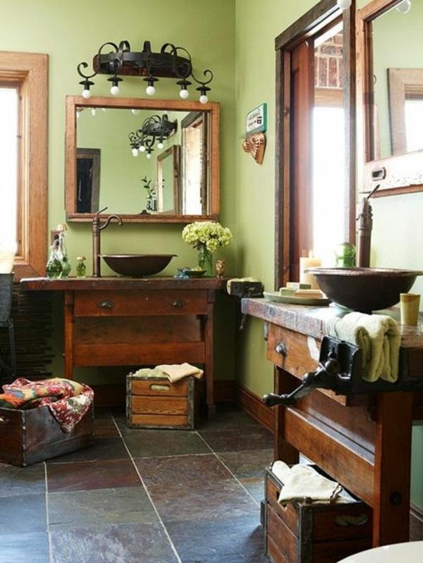Zimmer-Flur-Wandgestaltung-in-grüner-Farbe