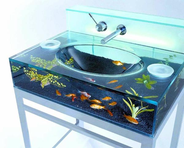 aquarium-designer-waschbecken - foto vom nahen genommen