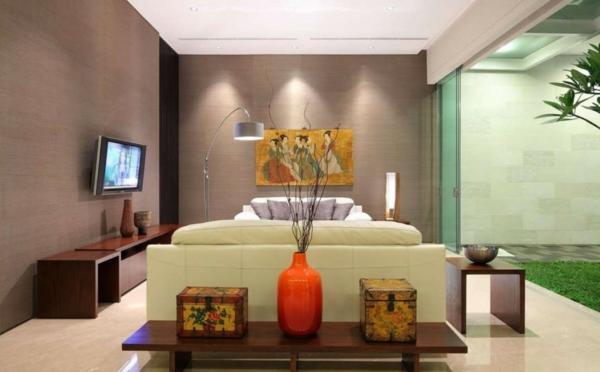 wohnzimmer rot dekorieren:wunderschönes wohnzimmer dekorieren – im asiatischen stil