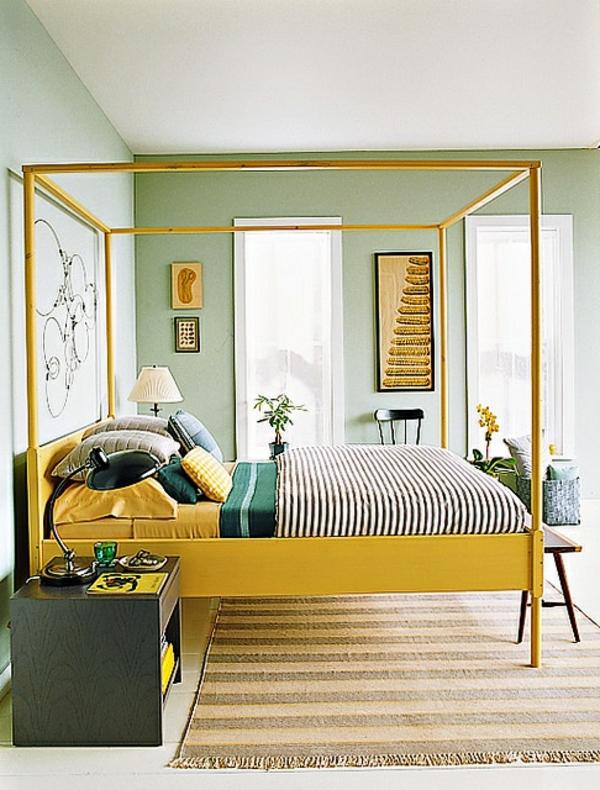 Gelbe farbgestaltung im schlafzimmer 24 fotos - Ausgefallene schlafzimmer ...