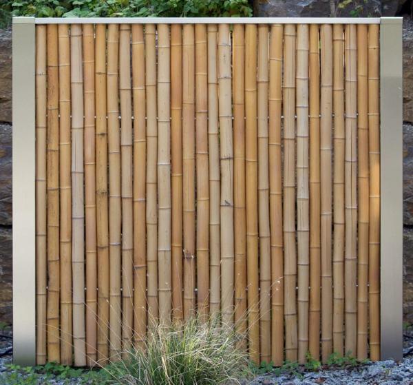 Sichtschutz Aus Bambus Mit Edelstahlrahmen  bambussichtschutz