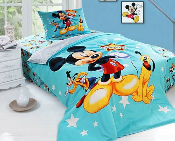 blaue-Mickey-Mouse-Bettwäsche-Ideen