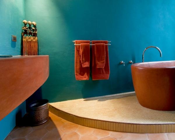 Mediterrane Wandgestaltung Für Ein Schickes Ambiente! - Archzine.net Wandgestaltung Im Badezimmer