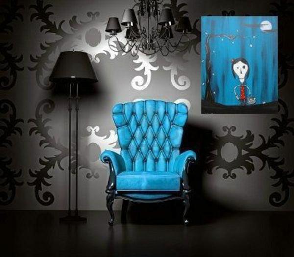 blauer-gothic-sessel- super foto