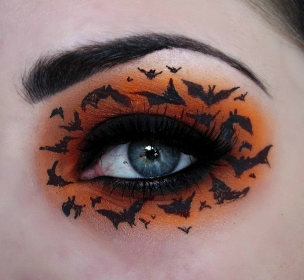 coole-Halloween-Make-up-Ideen-Fledermäuse
