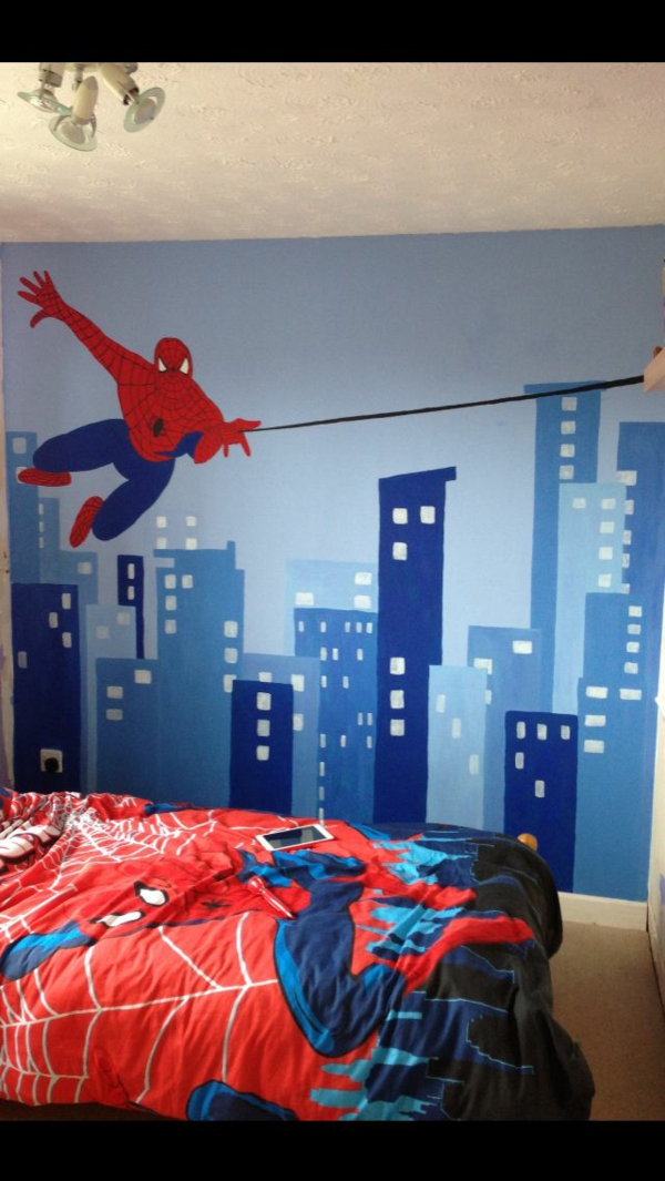 coole spiderman bettw sche. Black Bedroom Furniture Sets. Home Design Ideas