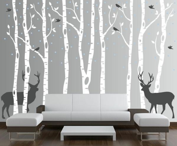 wandbilder an die wand malen verschiedene ideen f r die raumgestaltung inspiration. Black Bedroom Furniture Sets. Home Design Ideas