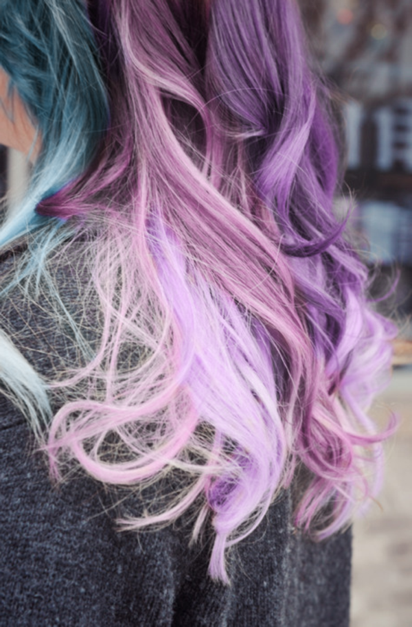 coole-extravagante-Haarfarbe-lila