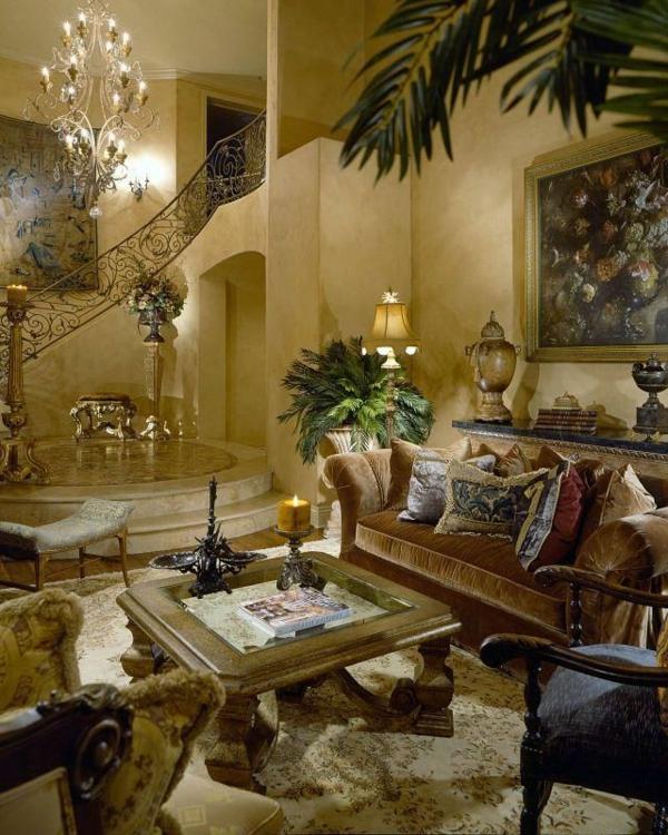 Wandfarben Wohnzimmer Mediterran  Wohnzimmer Ideen