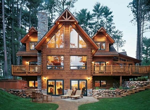 cooles-Haus-für-den-Urlaub-Gebirge
