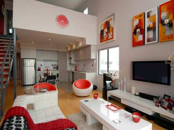 best wohnzimmer deko rot contemporary interior design ideas