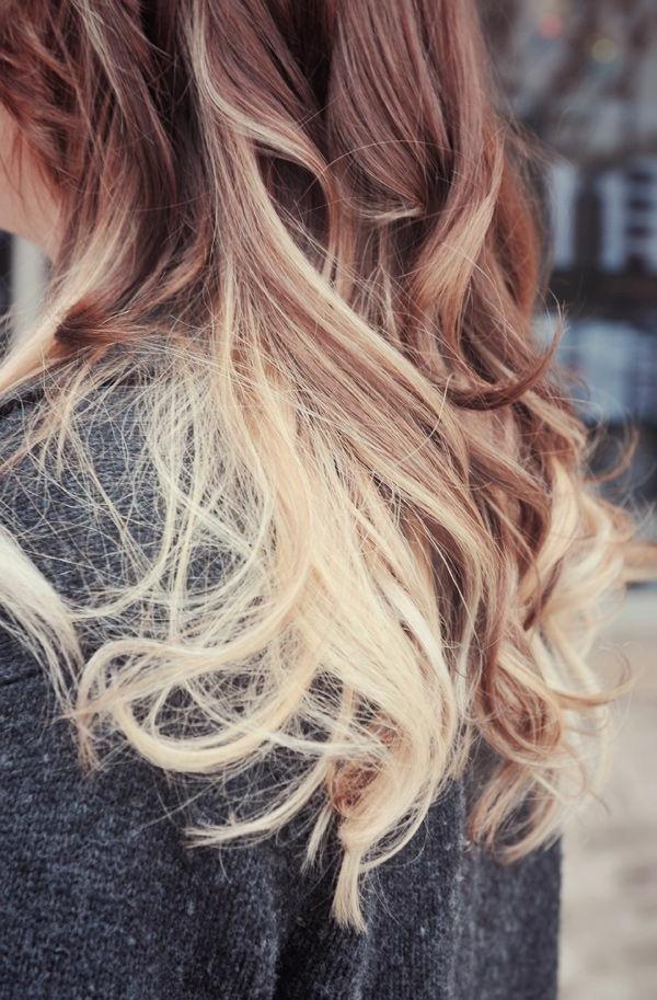 effektvolle-Frisuren-für-Frauen-Blond-Ombre