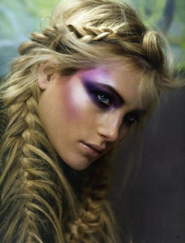 effektvolle-Frisuren-für-Frauen-origineller-Zopf