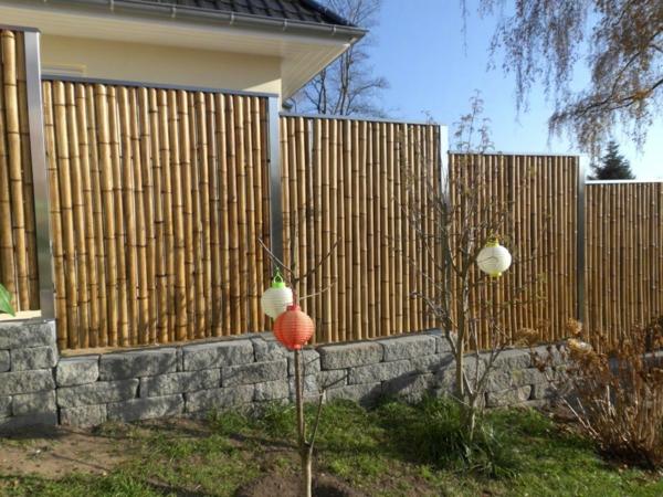 effektvoller-Gartenzaun-aus-Bambus/Ideen