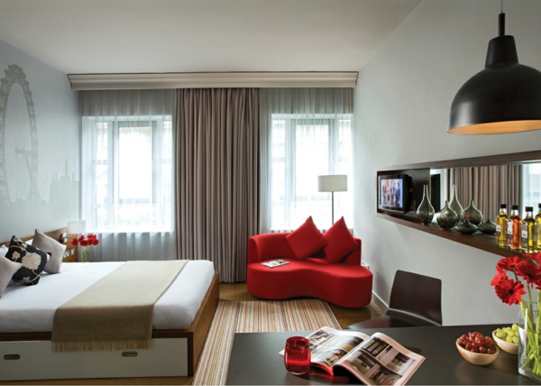 140 bilder einzimmerwohnung einrichten. Black Bedroom Furniture Sets. Home Design Ideas