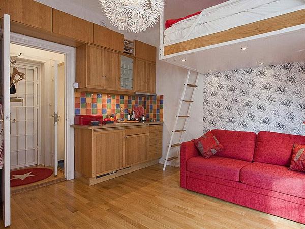 einzimmerwohnung-einrichten-hochbett-in-weiß