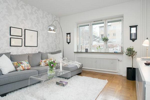 Wohnzimmer einrichten graues sofa  Graues Sofa Welcher Teppich ~ Die neuesten Innenarchitekturideen