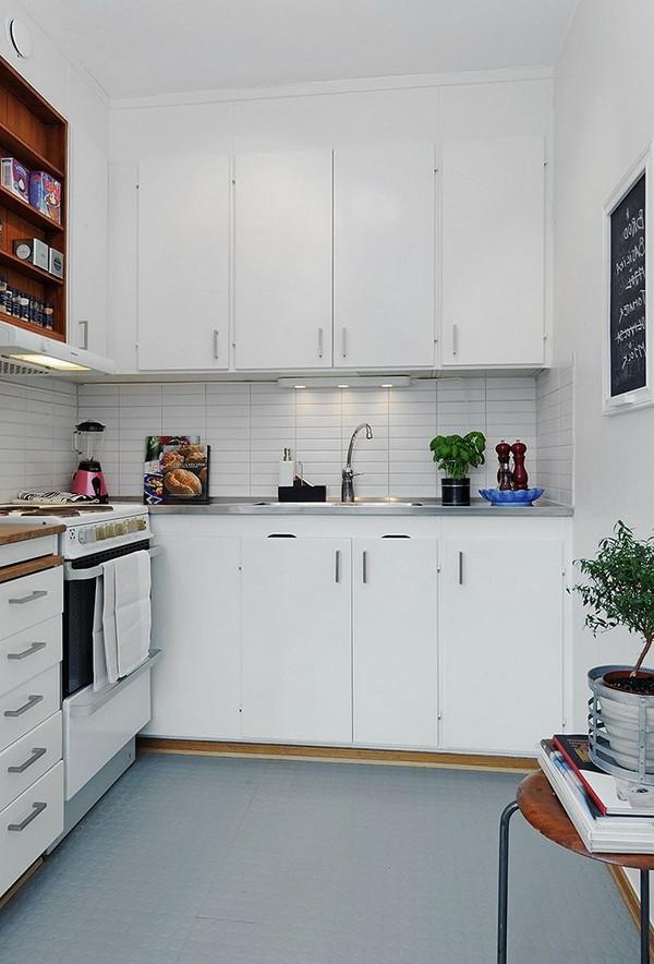 einzimmerwohnung-einrichten-weiße-küche