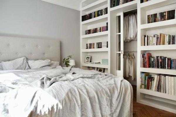 einzimmerwohnung-einrichten-weißes-bett