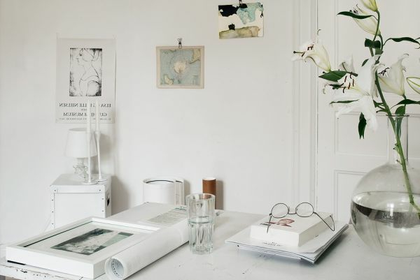 Einzimmerwohnung Einrichten Weißes Möbel