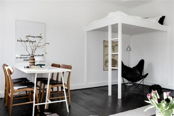 kleines zimmer mit hochbett verschiedene. Black Bedroom Furniture Sets. Home Design Ideas