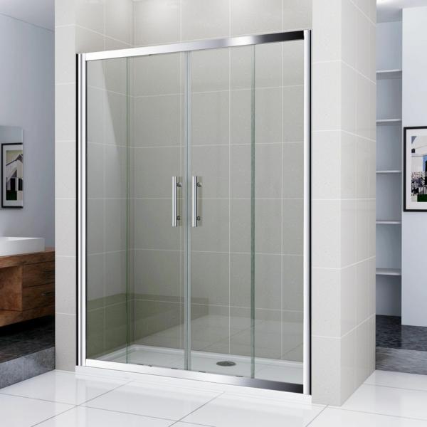 elegante-Duschkabinen-für-Badezimmer-Glastür