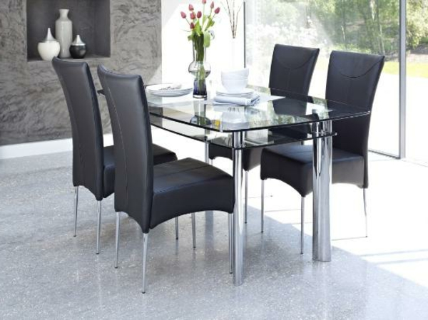 elegante-Esszimmer-Möbel-Glastische-