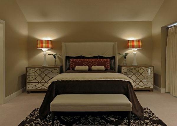elegante-schlafzimmer lampen-im-gemütlichen-schlafzimmer