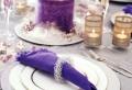Tischdeko zur Hochzeit in lila Farbe – 34 Bilder!