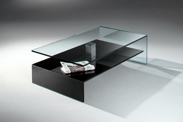 Effektvolle couchtische aus glas for Couchtisch glas schwarz