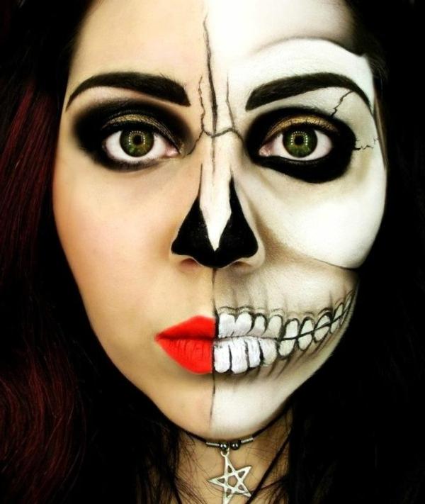 erschreckende-Halloween-Schmink-Ideen-für-Halloween-Party