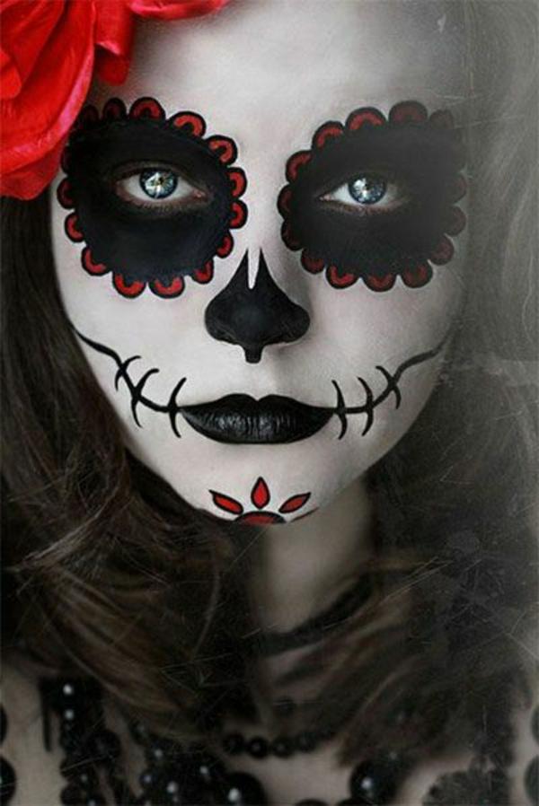 Coole halloween schmink ideen - Mexikanische totenmaske schminken ...