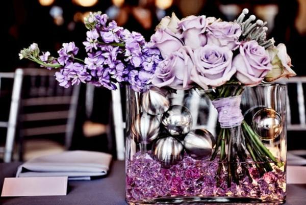 Tischdeko zur Hochzeit in lila Farbe - 34 Bilder! - Archzine.net