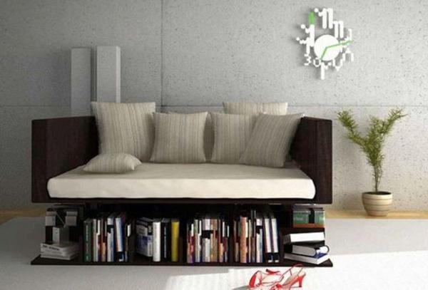 extravagante-mode-bei-der-einrichtung- weißes-sofa