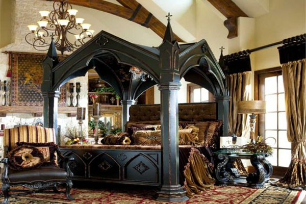 gothic bett die neuesten innenarchitekturideen. Black Bedroom Furniture Sets. Home Design Ideas