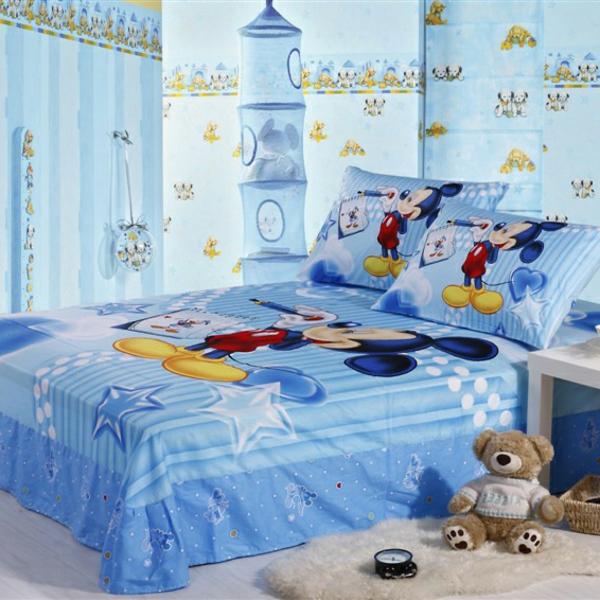 fantastische-Bettwäsche-Mickey-Mouse-in-Blau