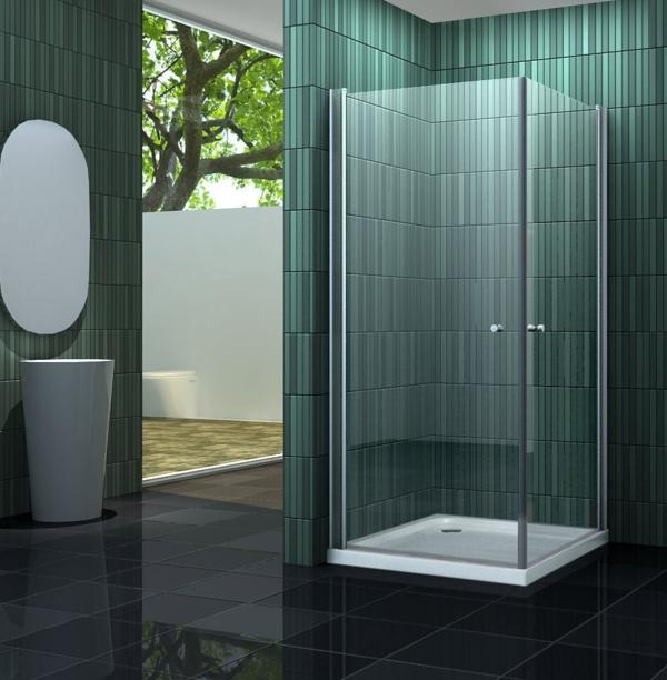fantastische-Duschkabinen-aus-Glas-grüne-Fliesen