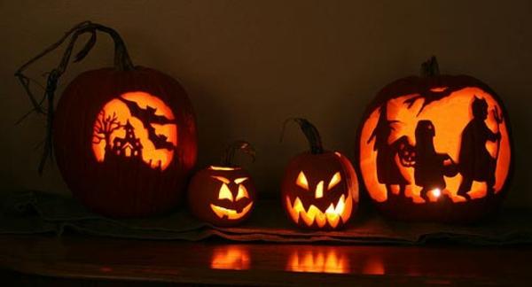 fantastische--Halloween-Kürbisse-ausschneiden