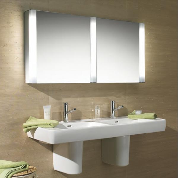 Badezimmer Spiegelschrank mit Beleuchtung - schöne Ideen! - Archzine.net