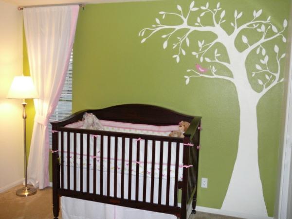 fantastische-Wandfarbe-Grüntone-Babyzimmer