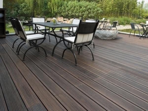 Gemutliche Wohnzimmer Beleuchtung : Bambus Terrassendielen sind eine ...